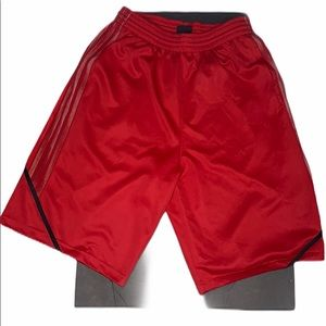 Adidas Men's red and black size Large shorts